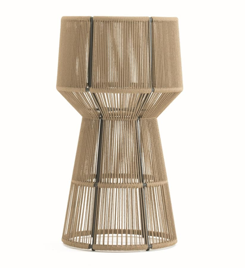 Cricket fioriera, Planter pot of synthetic fiber and aluminum, for external