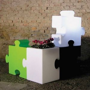 Modern design modular floor lamp Puzzle Corner by Slide LP PUZ051A, Modular and multifunctional piece of furniture