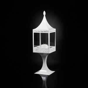 Top Light of Sultan with Base, White steel lantern