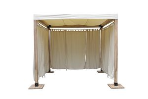 Venezia 849, Wooden gazebo simple and straightforward with fabric cover
