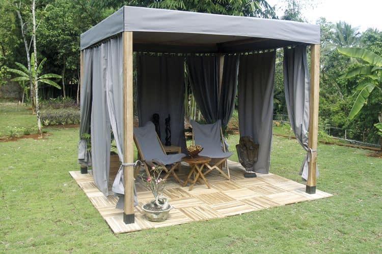 Venezia 849, Wooden gazebo simple and straightforward with fabric cover