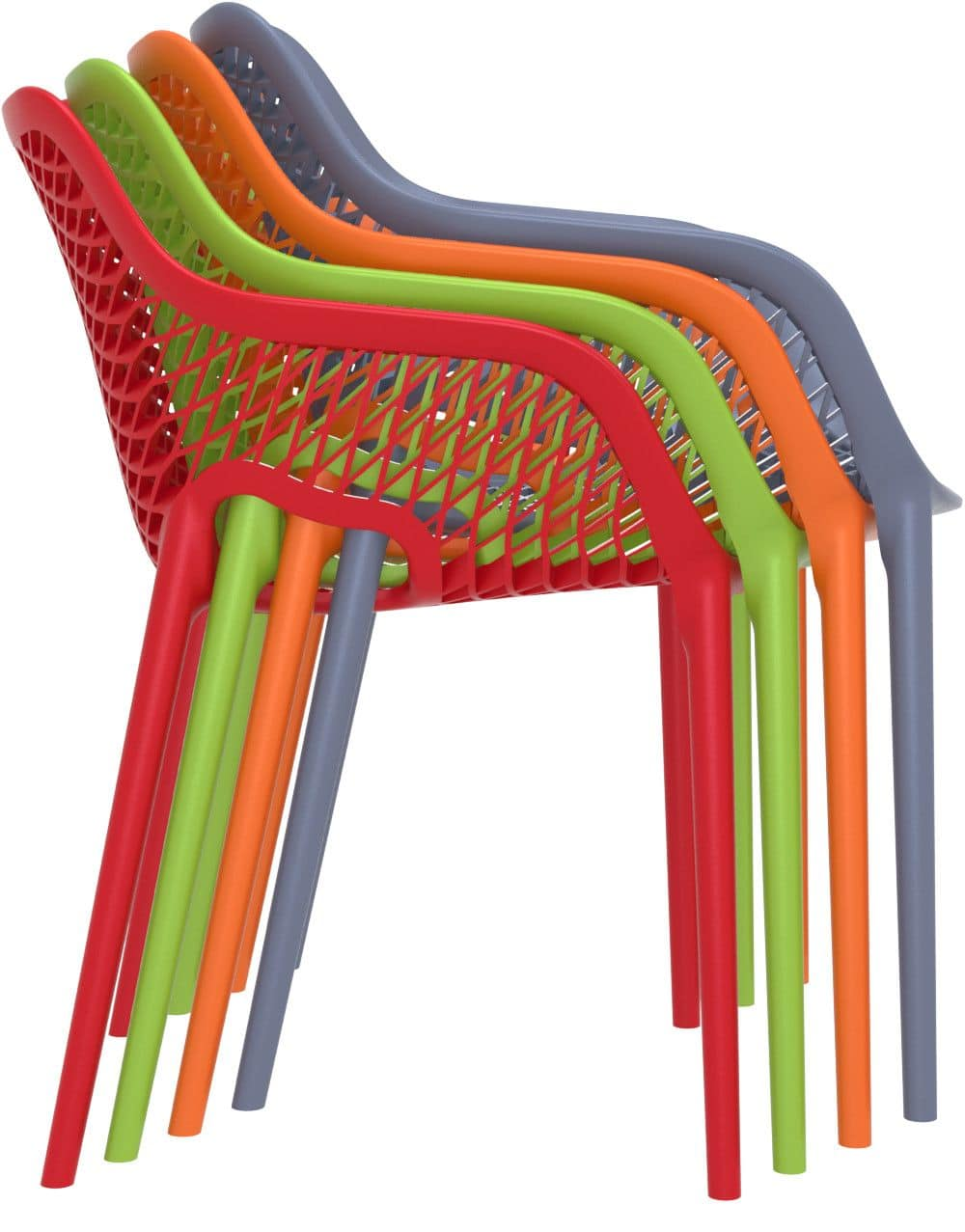 Alice - XL, Polypropylene armchair, ideal for outdoor bars and restaurants