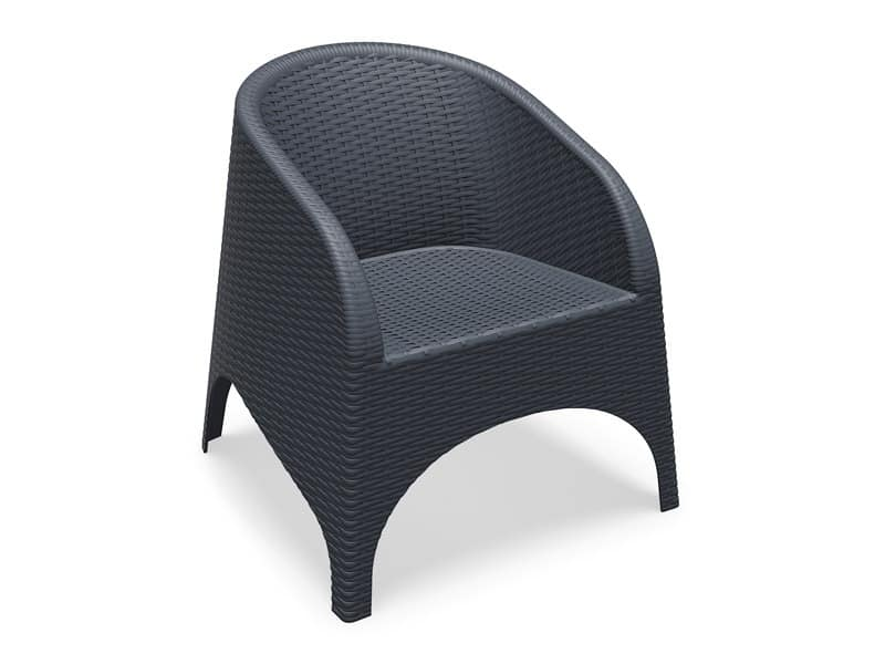 Ariel, Outdoor armchair, stackable, sturdy, durable