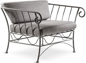 Bahamas new armchair, Armchair in anthracite bent iron