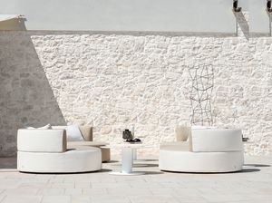 Belt armchair, Upholstered outdoor armchair