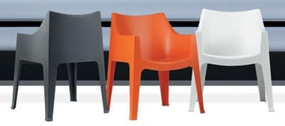 Coccolona, Stackable armchair made of plastic, with non-slip feet