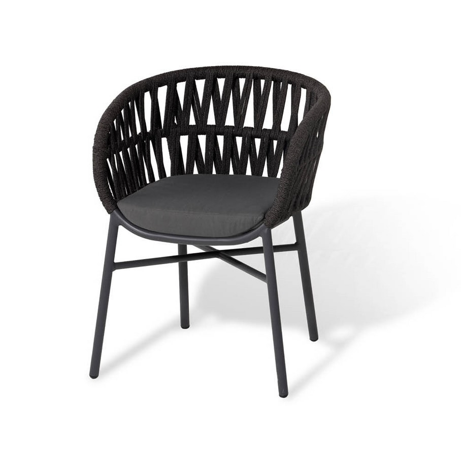 DROP, Armchair with rope weaving
