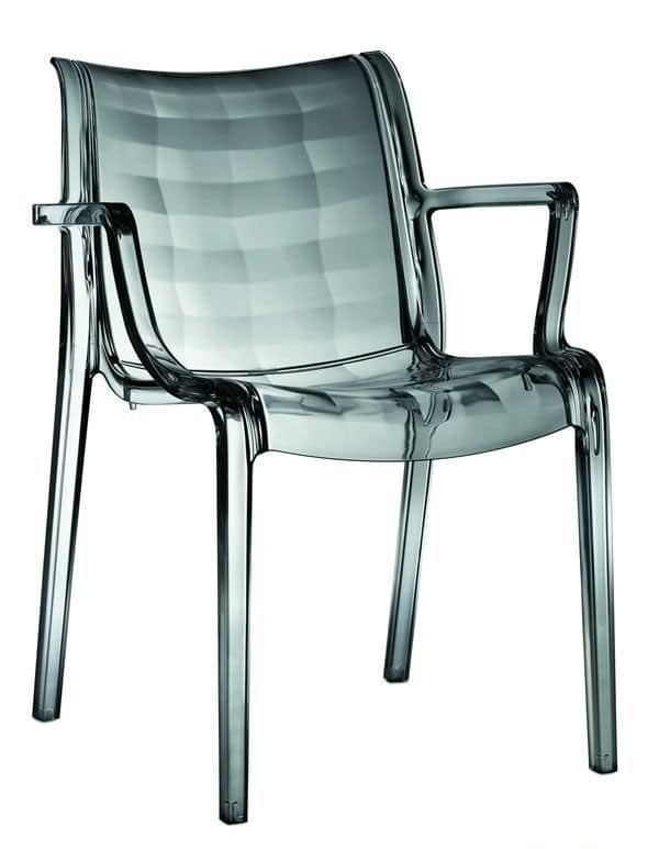 Extraordinaria, Polycarbonate armchair, transparent or coloured, for garden