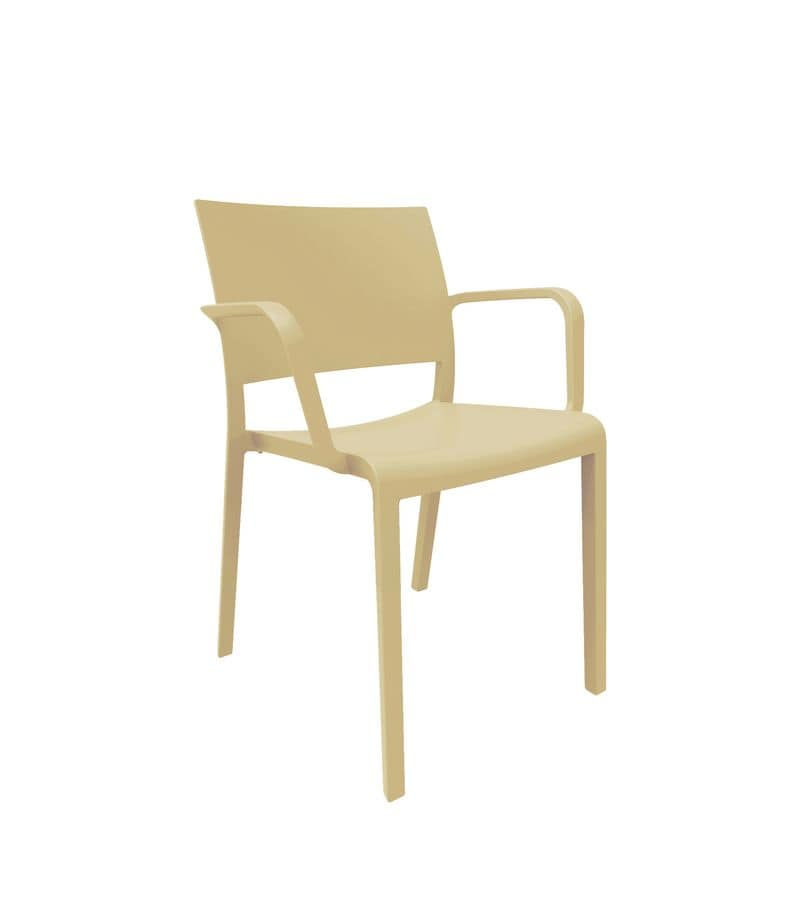 Fiona - PL, Polypropylene chair suited for outdoor environments