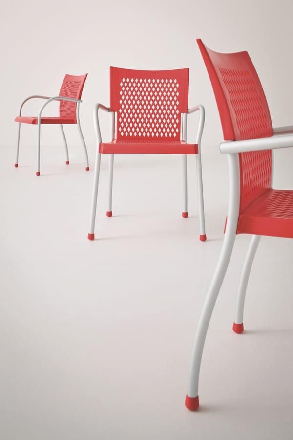 Futura, Modern stackable armchair, in different colors, for outdoors
