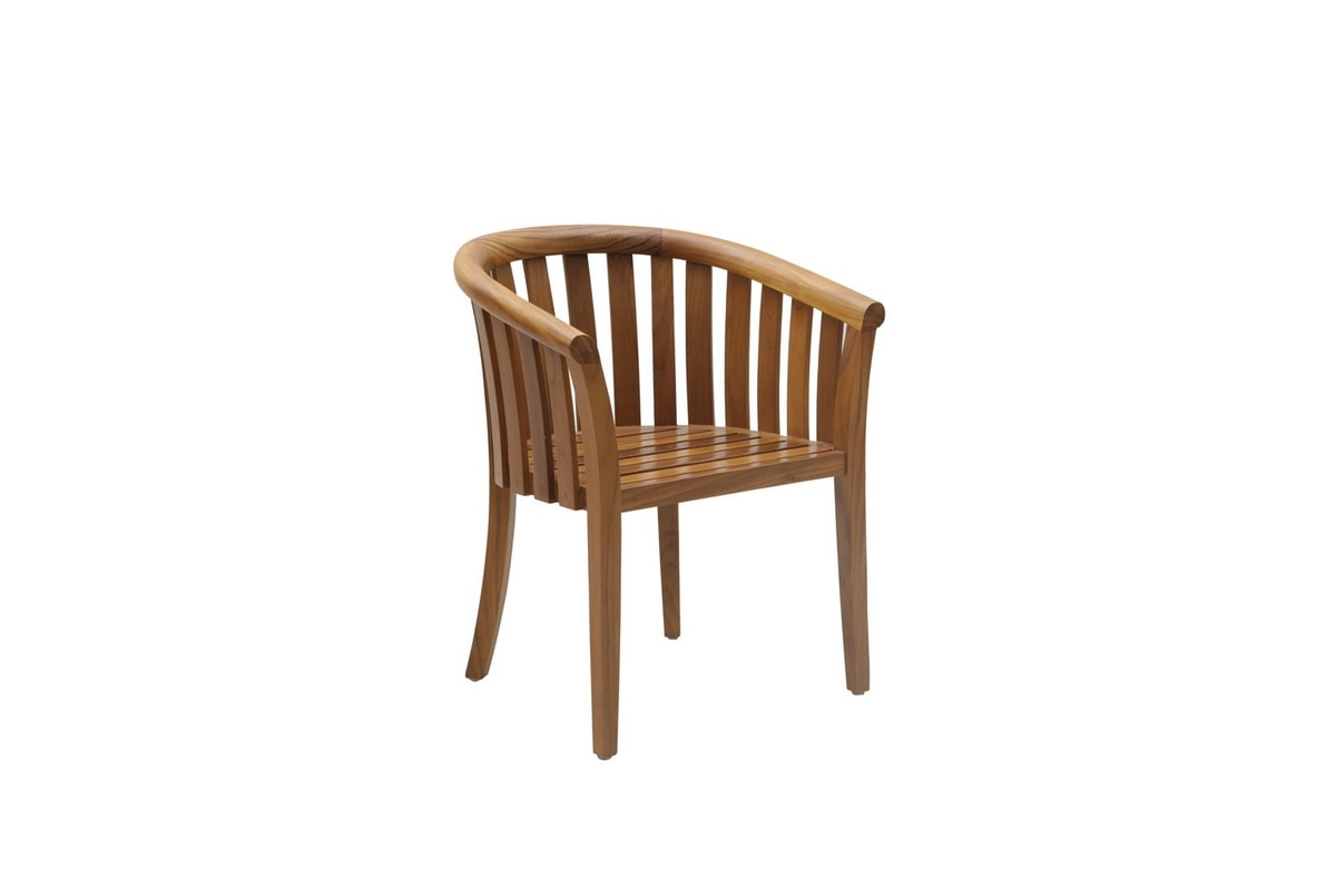 Georgetown 0349, Very comfortable armchair in teak and fabric