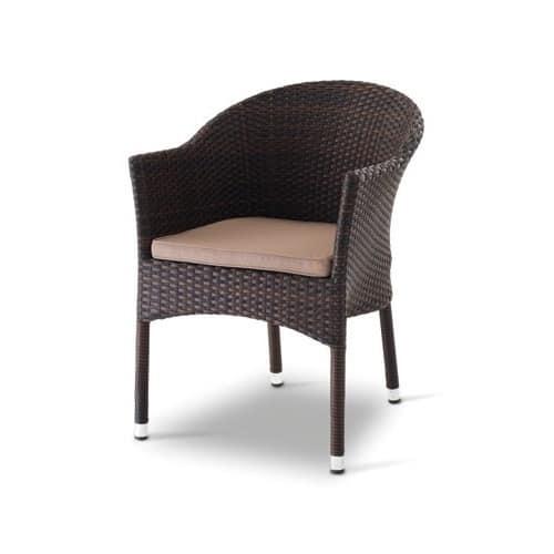 Giada 1, Armchair in polyethylene, aluminum frame, for external