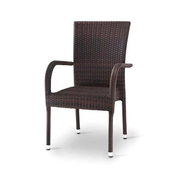 Giada 2, Woven chair with armrests, for Ice Cream & Bar