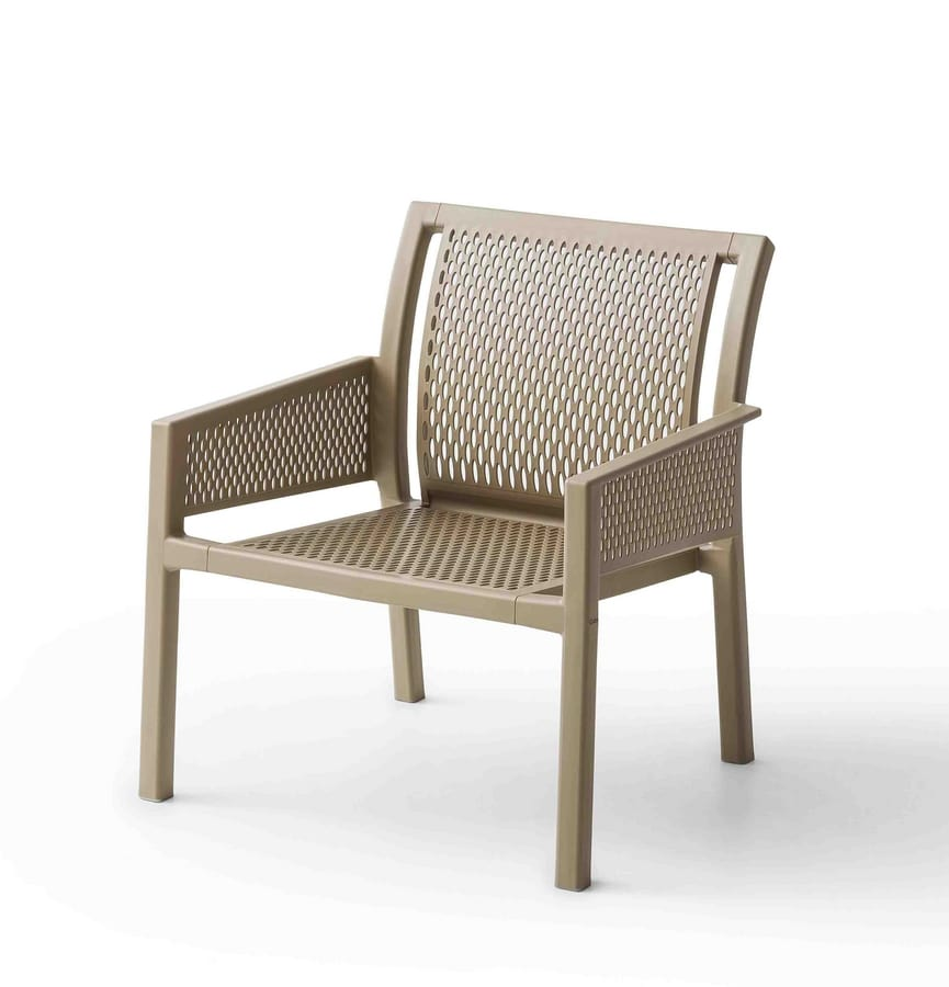 Grand Minush, Armchair with wide seat for outdoor use