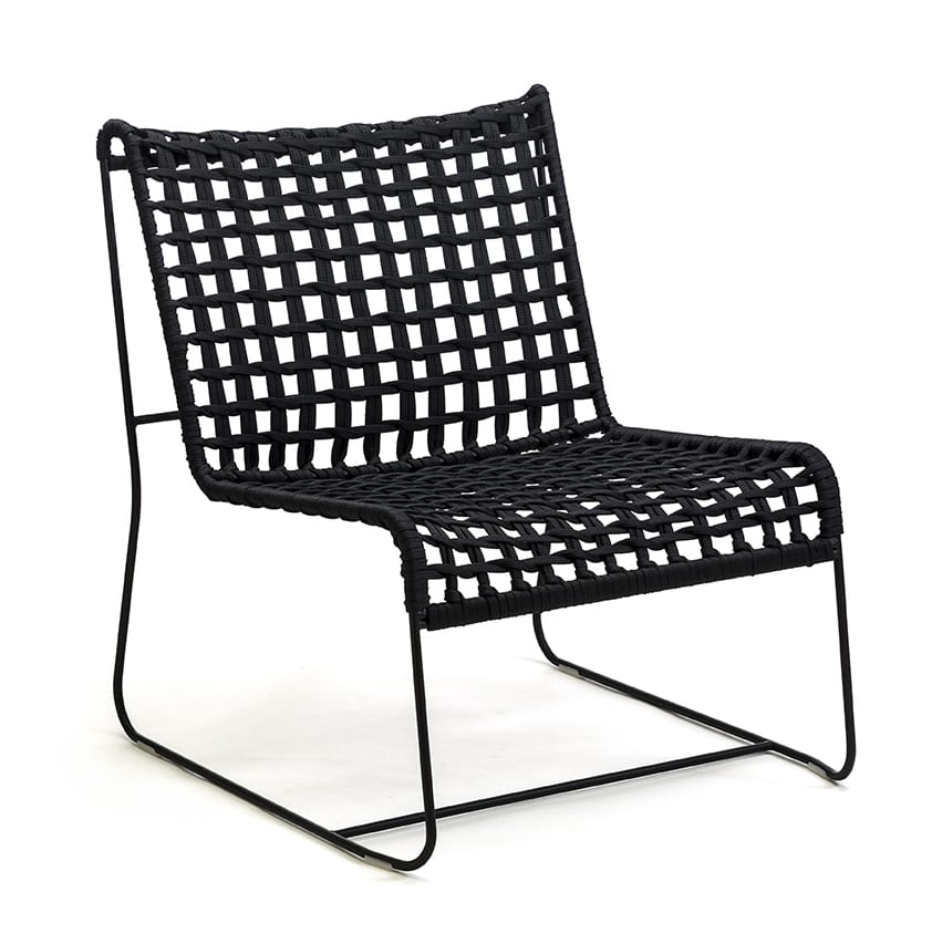 In Out Lo Linear Lounge Chair Seat Woven Rope For Indoor