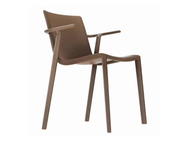 Kira-P, Outdoor chair in polypropylene, strong, light weight