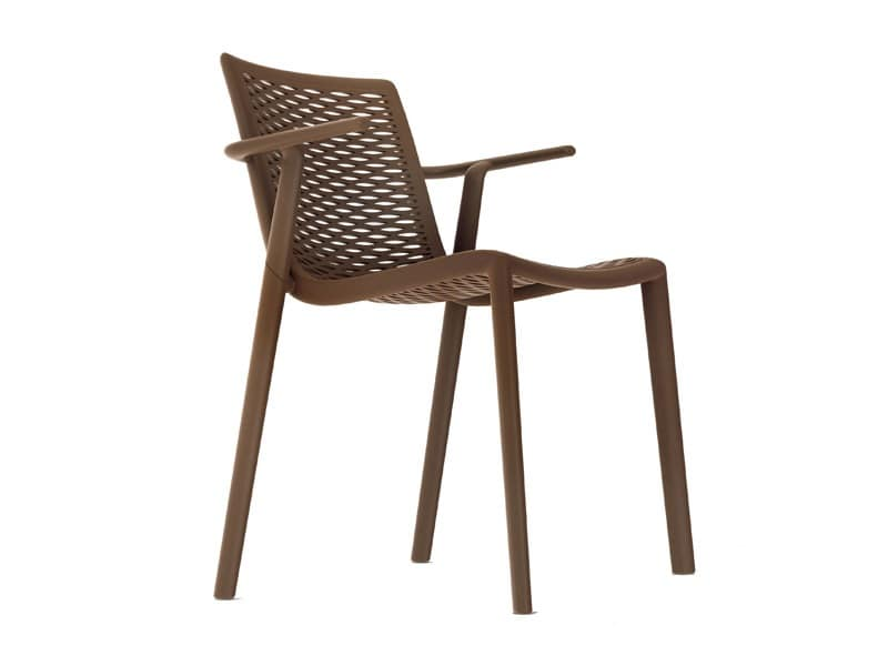 Kiranet-P, Modern stackable chair, different colors, for gardens