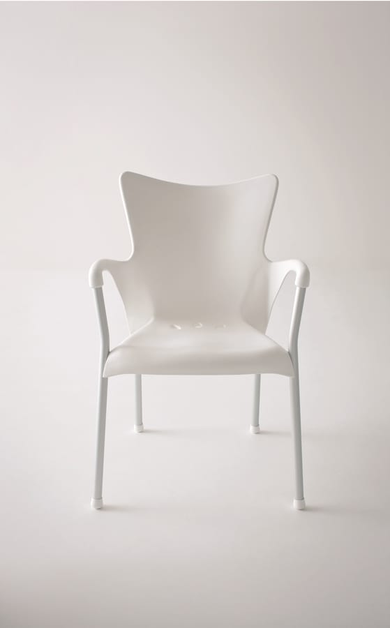 Lady, Stackable, comfortable, durable armchair, for bars and gardens