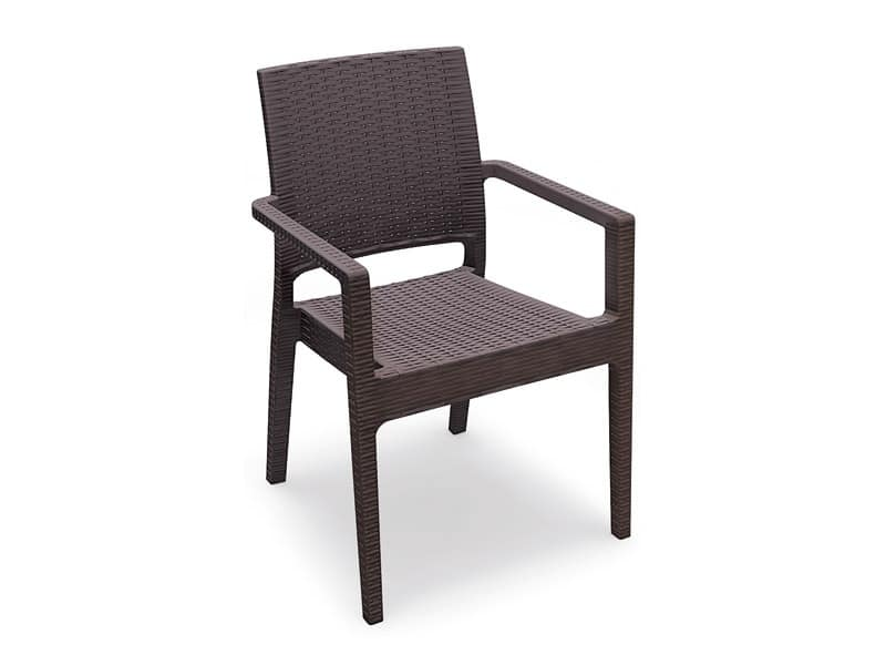 Lipari-P, Outdoor chair, stackable, reinforced with glass fiber