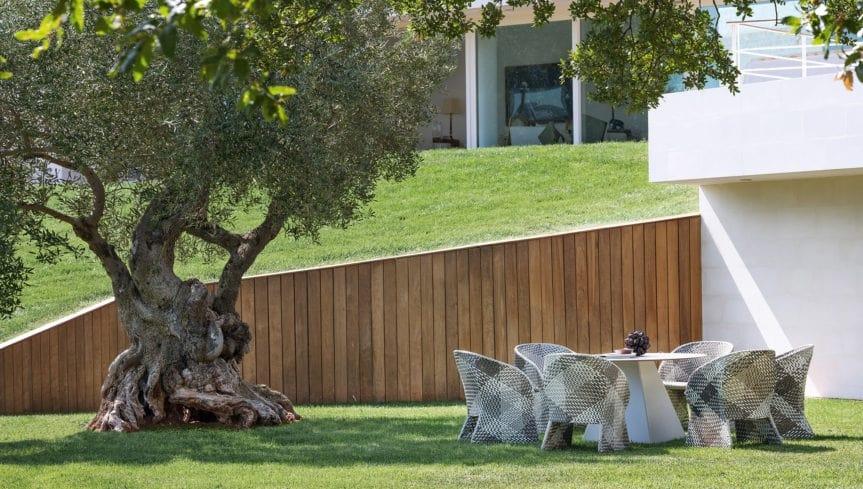 Maat armchair, Braided armchair for outdoor