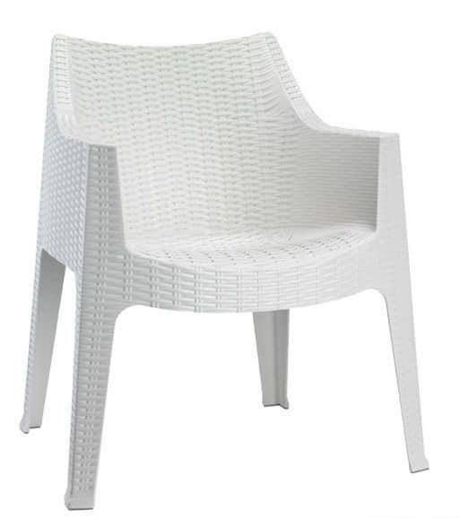 Maxima, Technopolymer armchair, stackable, also for garden