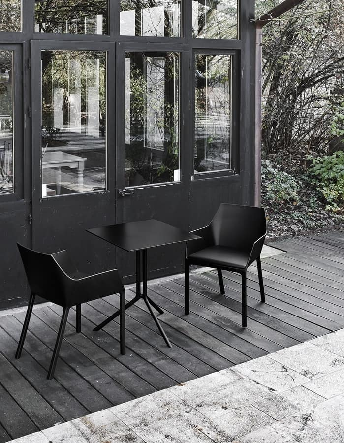 Mem, Chair in reinforced polypropylene, stackable, for outdoors