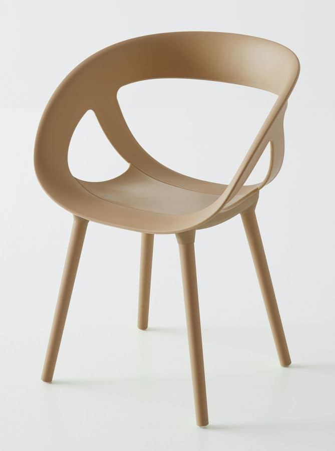 Moema BP, Armchair in polymer, for outdoor environments