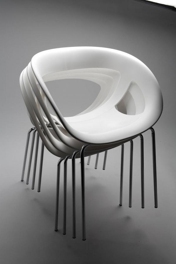 Moema 69, Modern armchair for bar and ice cream parlor