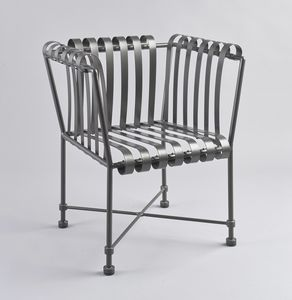 MOLLE GF4001AC, Outdoor armchair in wrought iron