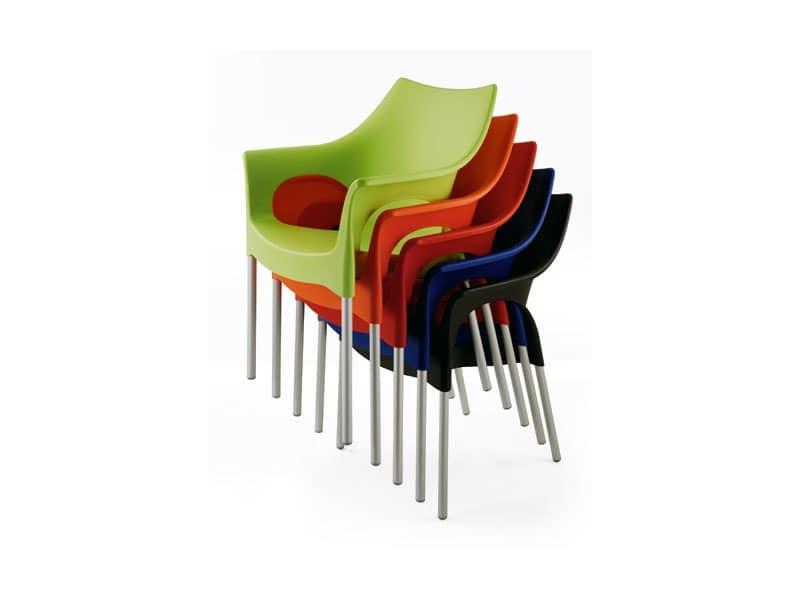 PL 2100, Waterproof armchair, in aluminum, for restaurant