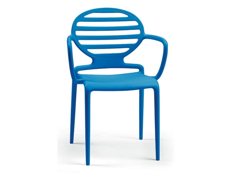 PL 2280, Polypropylene chair with armrests, matte finish