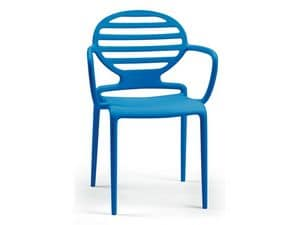 PL 2280, Polypropylene chair with armrests, matte finish