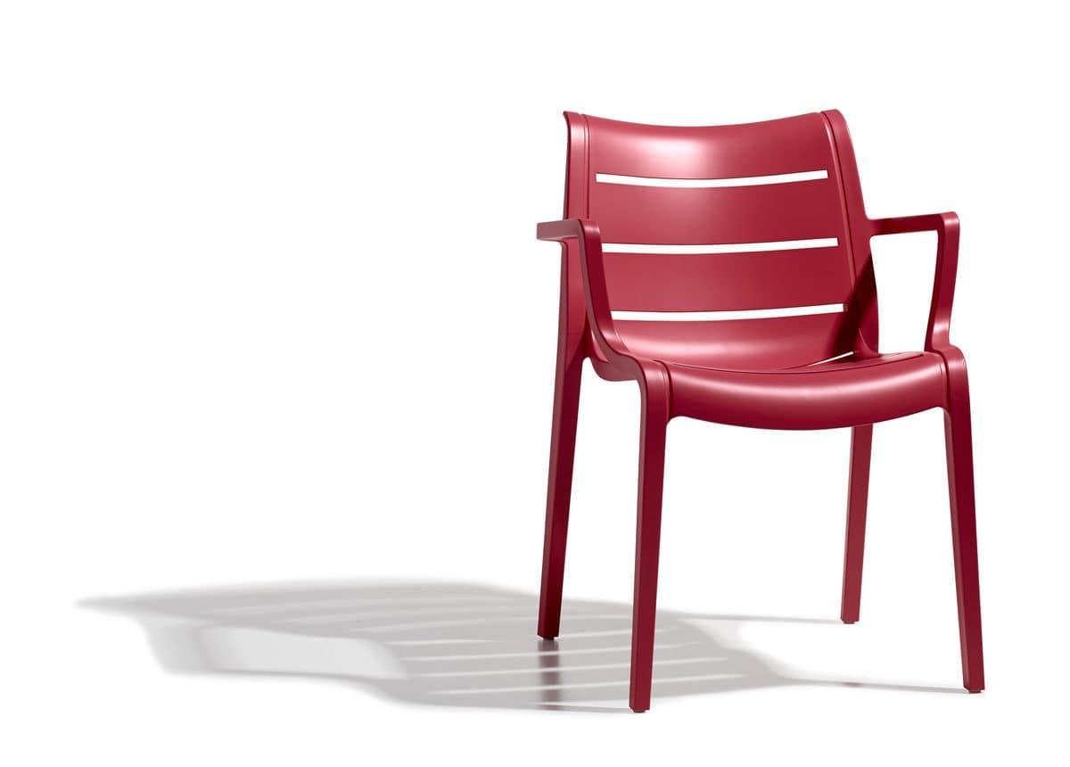 PL 2329, Armchair in plastic, in various colors, for external use