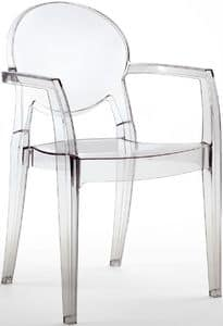 PL 2355, Transparent waterproof armchair, for outdoor