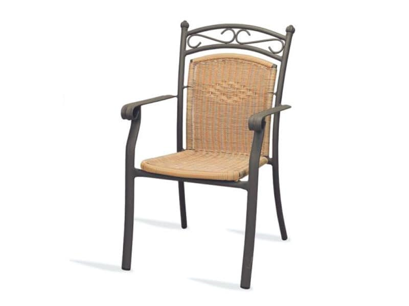 PL 406, Chair with armrests, woven, for hotels and restaurants