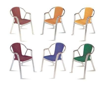 PL 412, Modern chair with woven seat, for outdoors