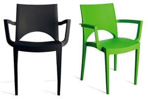 PL 6614, Resistant chair in polypropylene, for hotel and bar