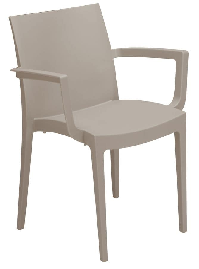 PL 6624, Stacking plastic chair suited for bar