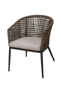 POLTRONCINA CAYO LARGO, Armchair with rope backrest