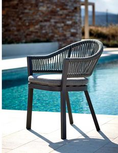 POLTRONCINA MESSICO, Braided armchair for outdoor use