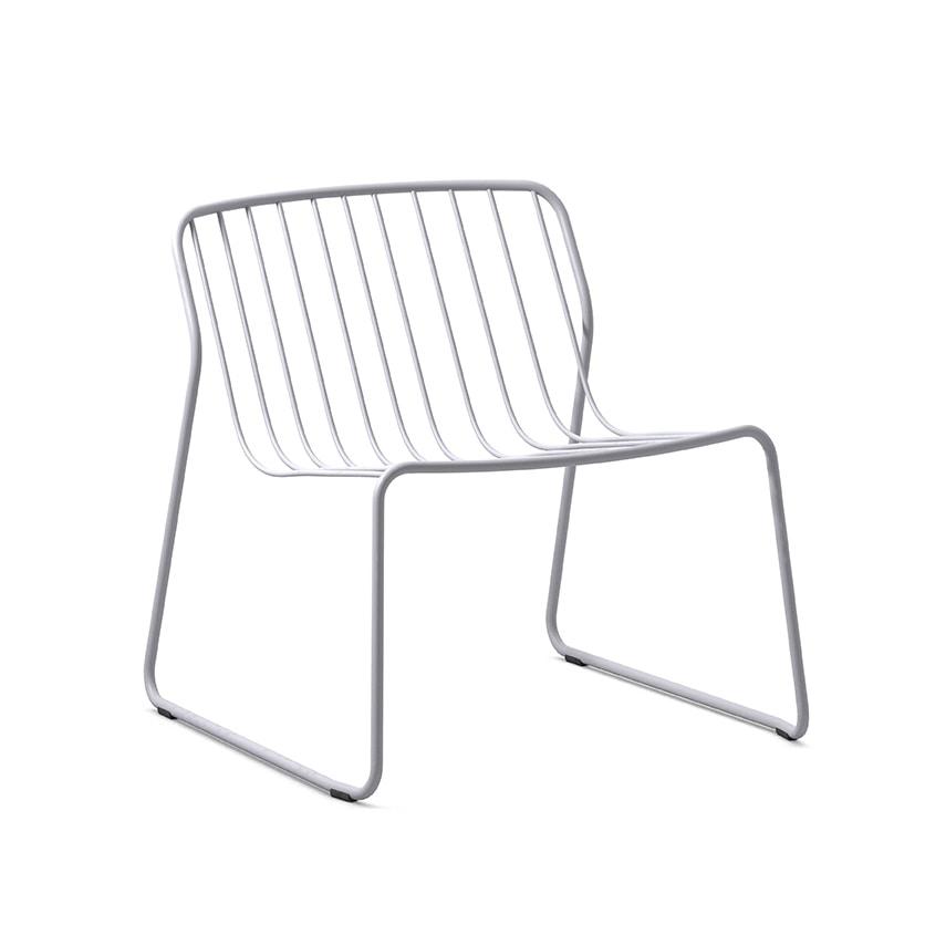 Randa nude LO, Stackable lounge chair in steel