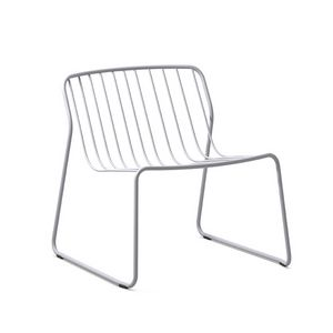 Randa nude LO, Stackable lounge chair in steel