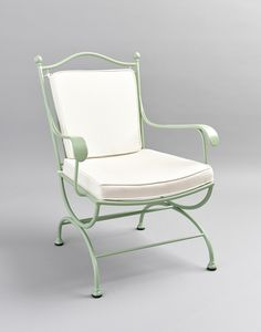 ROMBI GF4002AR, Garden armchair in green iron