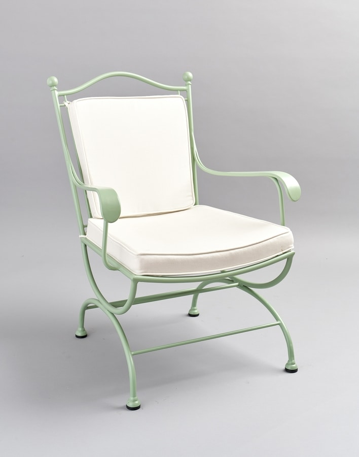 ROMBI GF4002AR, Garden armchair in green iron