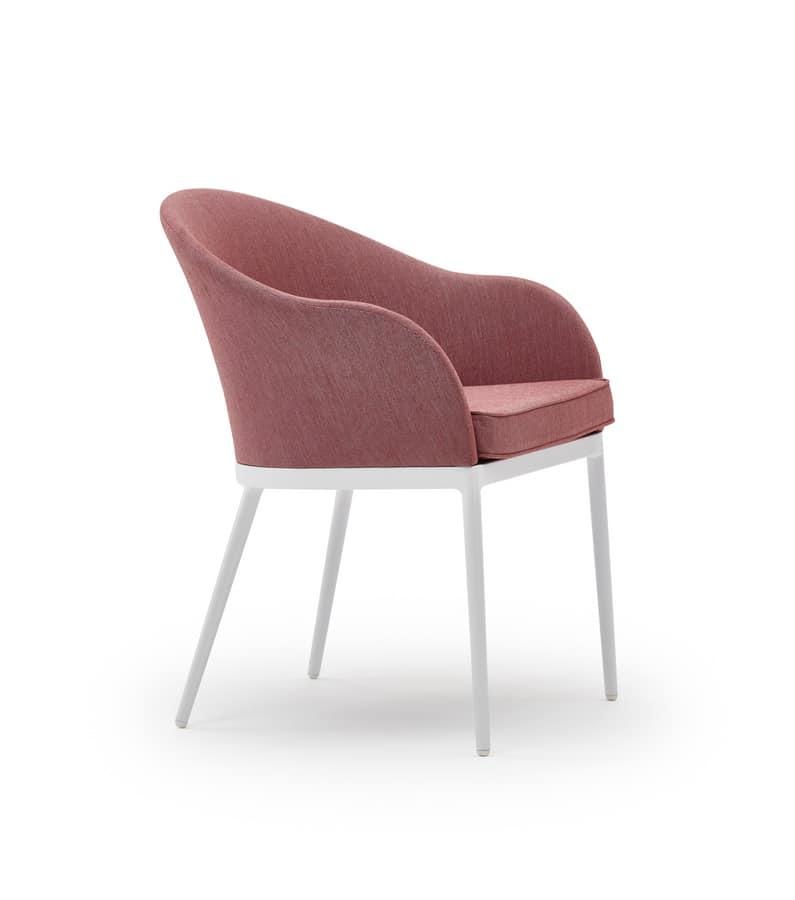 Saia armchair, Tub armchair, with modern style, for gardens and bars