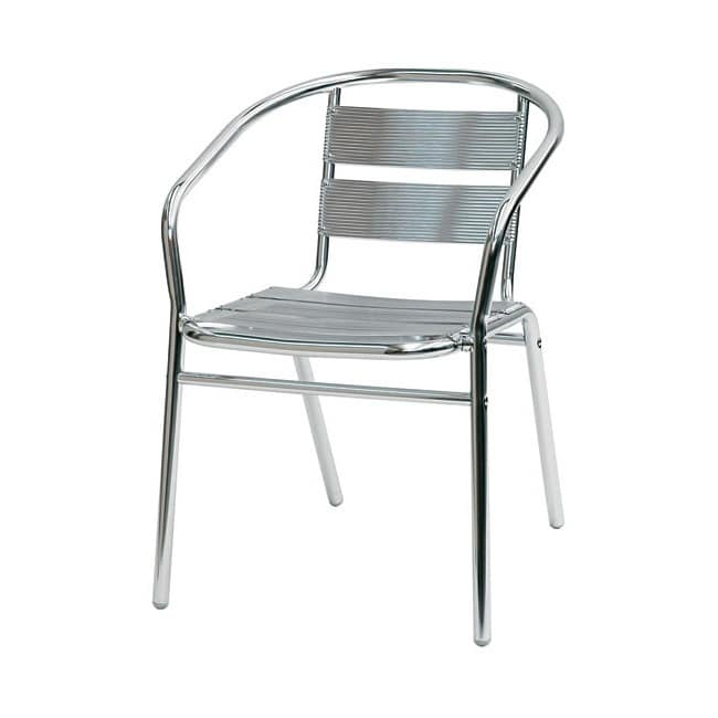 Sd est 1, Chair with armrests entirely of aluminum, for external use