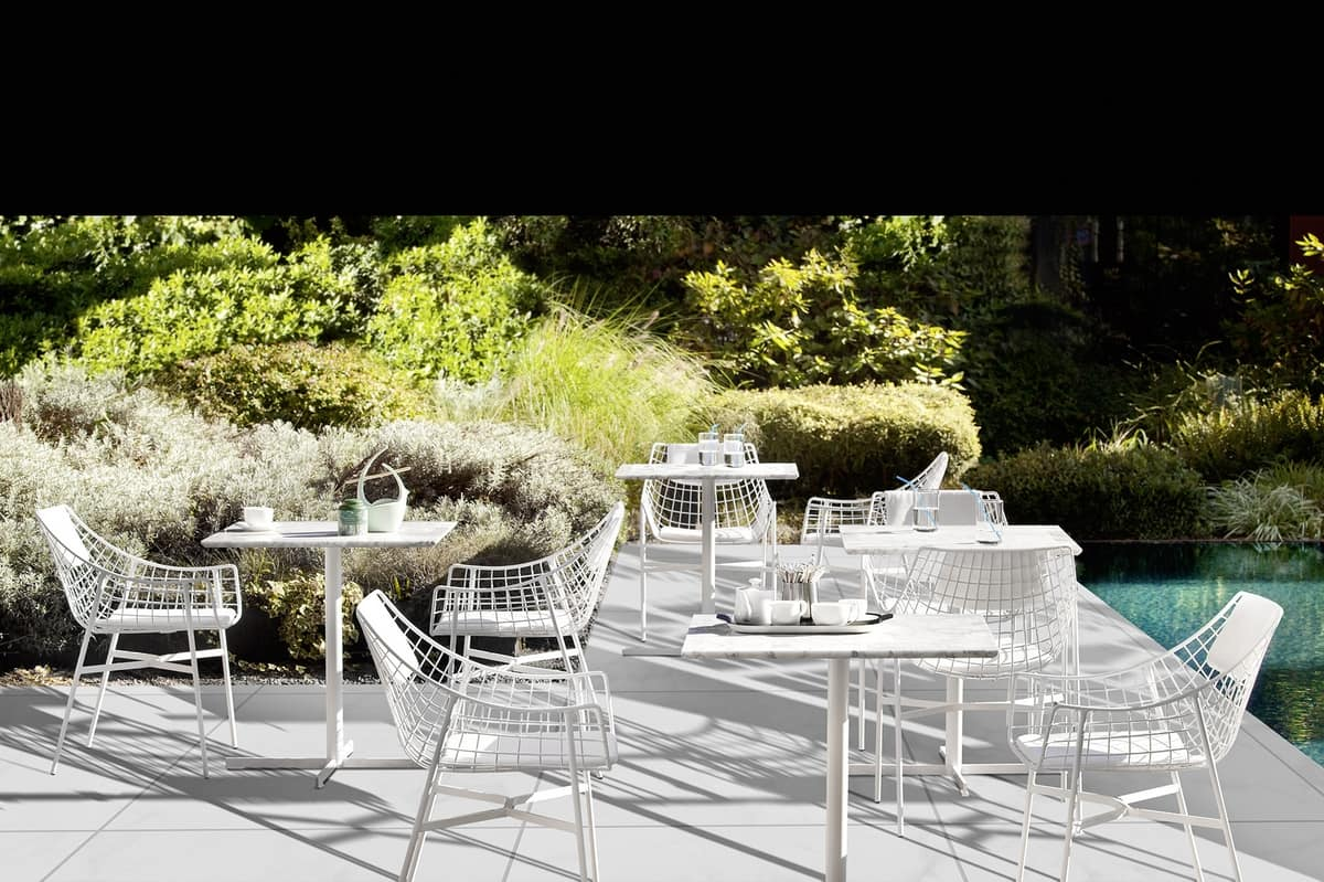 Summer set armchair, Steel armchair, for bar and outdoor environments