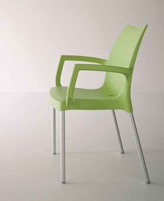 Tulip B, Armchair in aluminum and polymer, for outdoor use