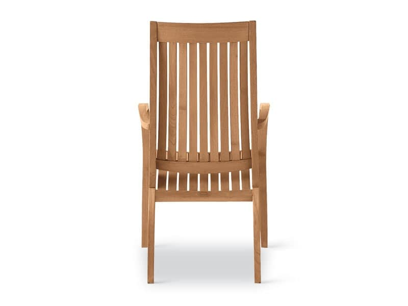 Wave armchair, Armchair in wood, curved lines, for gardens