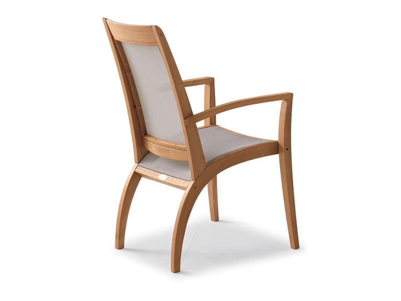 Wave armchair - textilene, Durable armchair, smooth lines, for bar and ice cream parlor